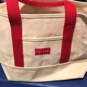 Escada mini canvas tote